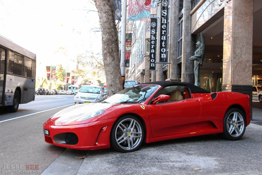 The 2007 Ferrari F430 Spider.