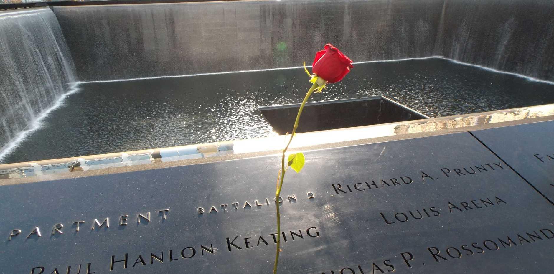 The September 11 memorial site in New York.