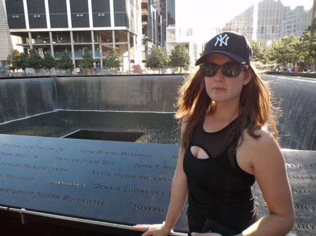APN reporter Emily Prain at the September 11 memorial in New York.