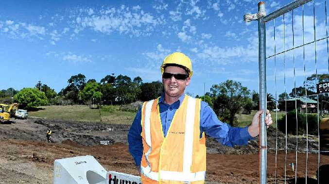 Lismore City Council Co-ordinator of Environmental Strategies Nick Stephens at the Slaters Creek Stormwater Treatment Wetland site in North Lismore.