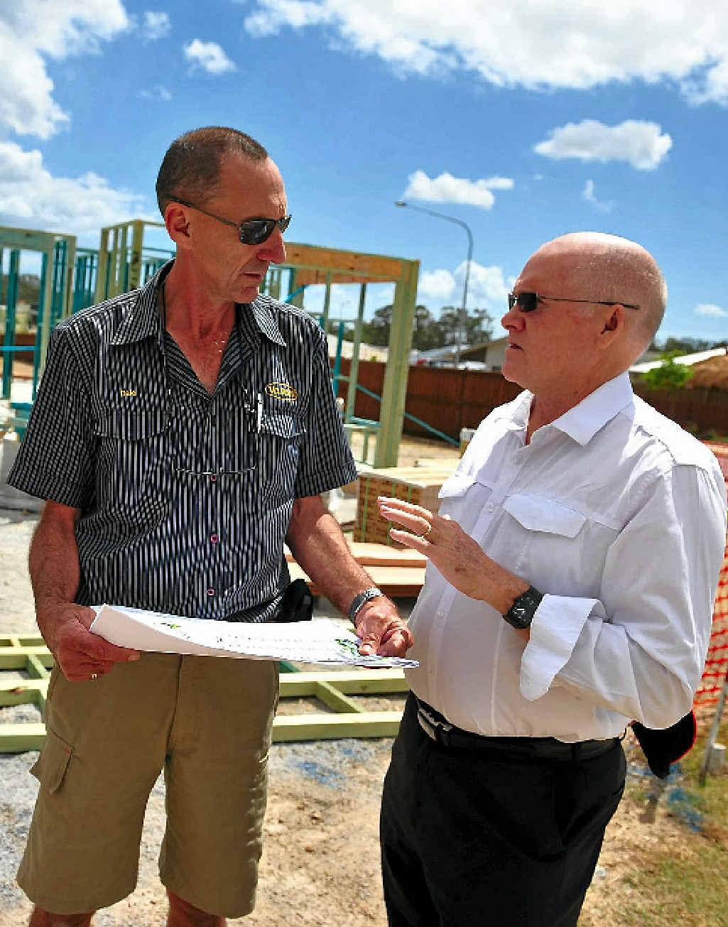 Urban Development Institute of Australia committee members Dale Ware and Neil Jessop discuss development in Gladstone.