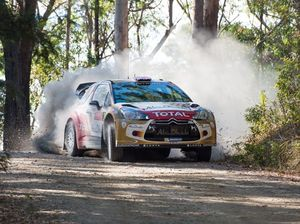 Meeke sets the pace during Rally Australia qualifying