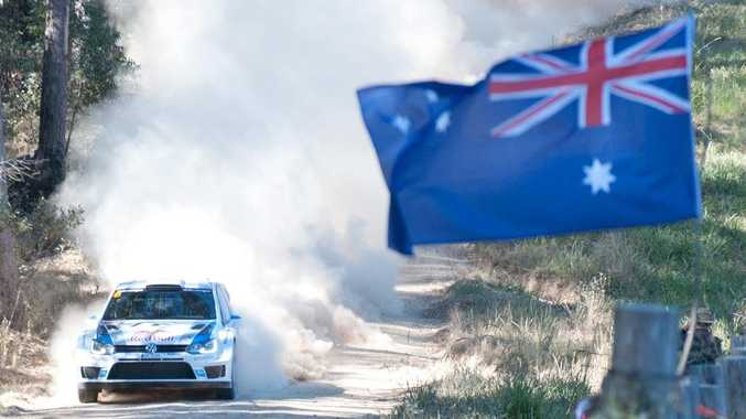 Volkswagen driver and World Rally Championship leader Sebastien Ogier finds his feet on Australian conditions.