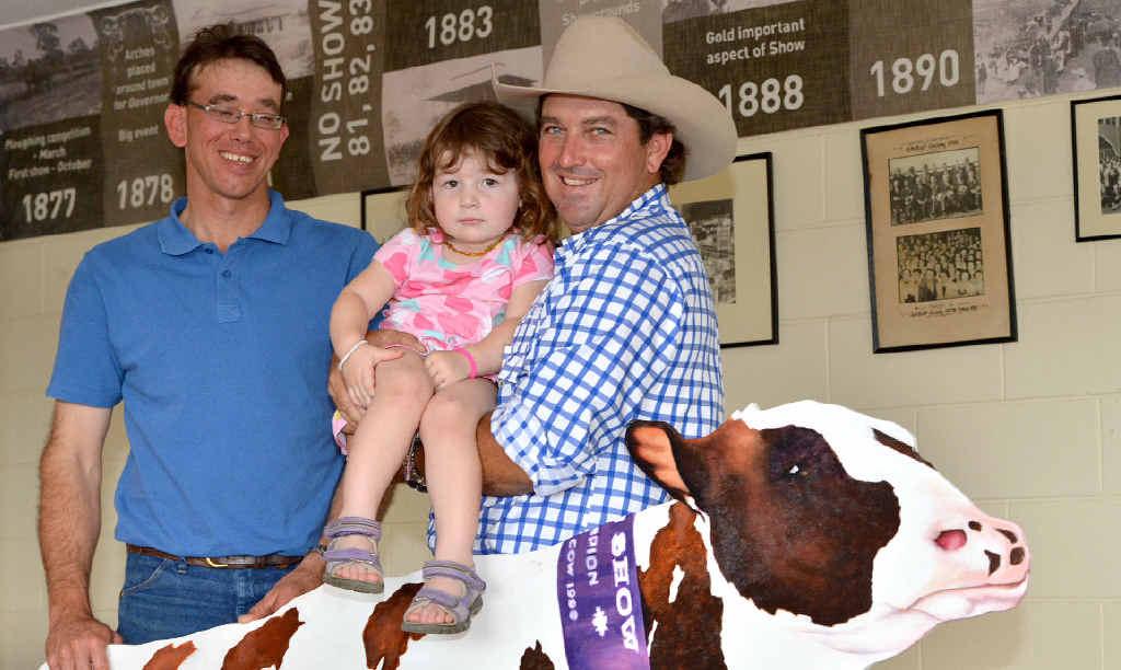 "David Warren, (left) and Joe Mooney (with daughter Neisha), have a big job ahead – but that's ""Show"" business."
