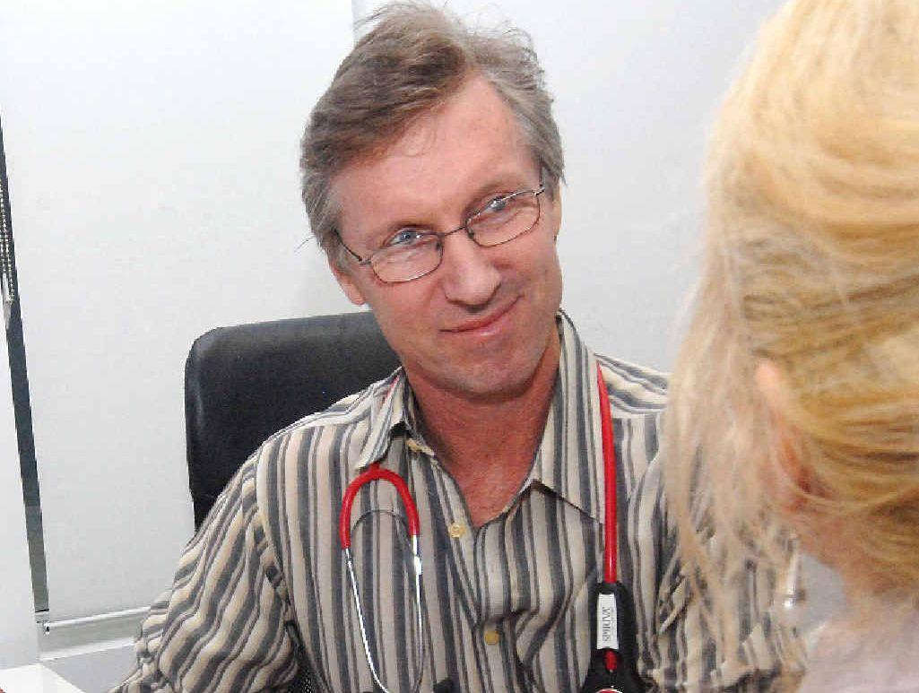 GETTING HEALTHIER: Dr John McIntosh says this year's flu season was mild.
