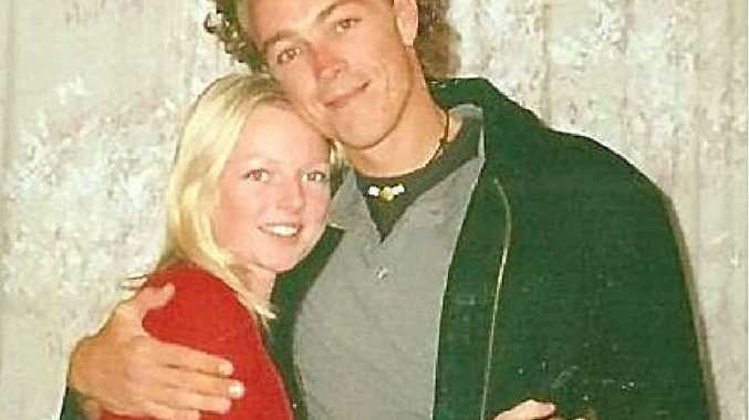 SUICIDE TRAGEDY: Jessica Davies with her brother Adam in 2000.