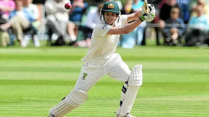 Australian Sarah Elliott on her way to a century in the Ashes Test against England.