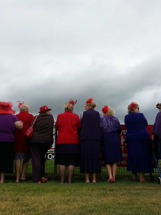 Red hat ladies at the Ballina Cup