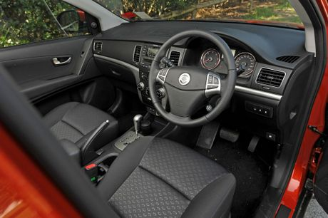 Inside the Ssangyong Korando SX.