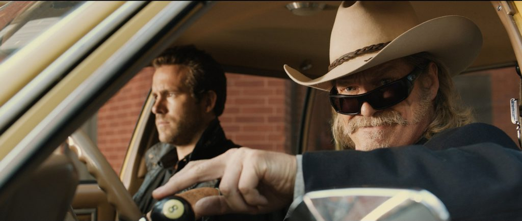 FOR REVIEW AND PREVIEW PURPOSES ONLY. Ryan Reynolds, left, and Jeff Bridges in a scene from the movie RIPD. Supplied by Universal Pictures.