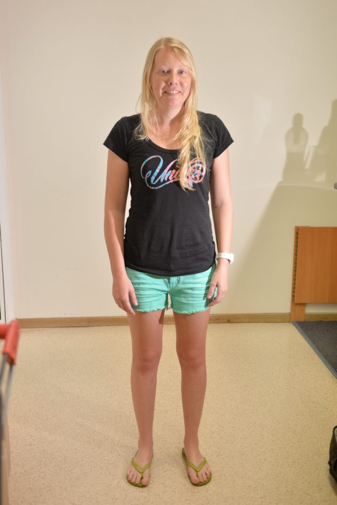BEFORE: Bluecare nurse Chloe Byrnes, 22, participated in a Stockland stylist session.