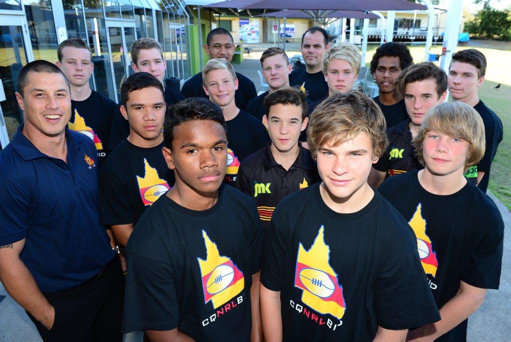 Members of the CQ NRL Bid U14 & U15 junior development squad teams for the Rockhampton Region, including Jack White and Lachlan Hubner. Photo Sharyn O'Neill / The Morning Bulletin