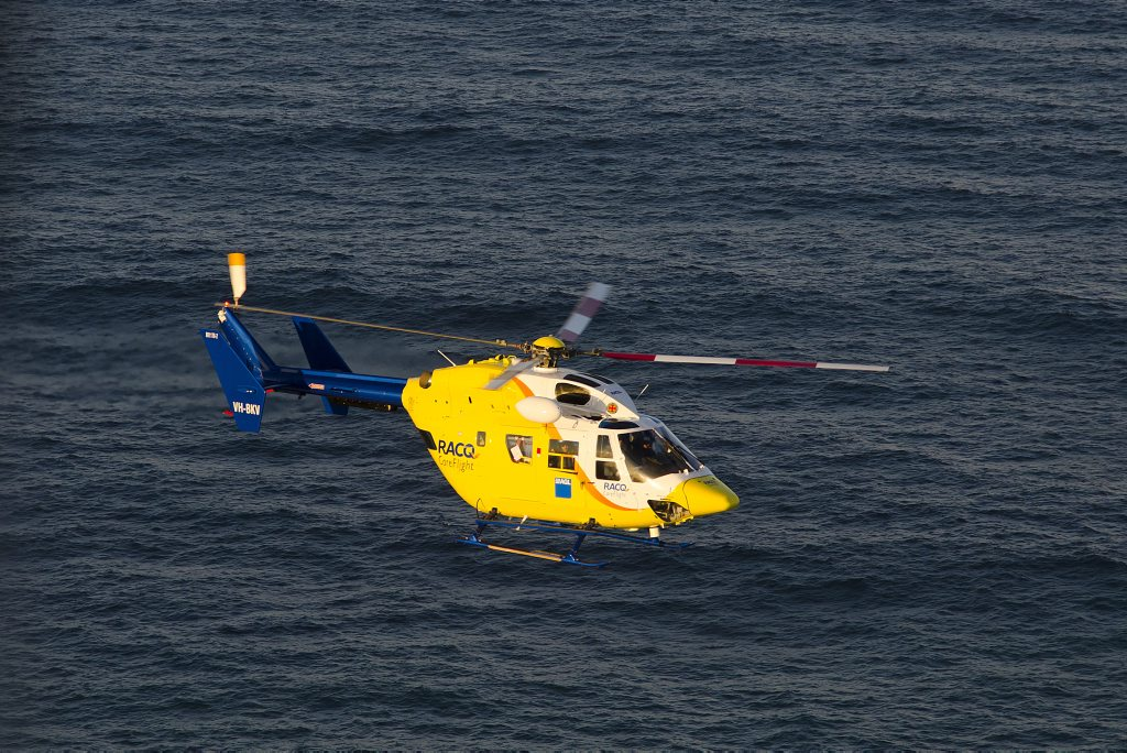 RACQ CareFlight Rescue helicopter.