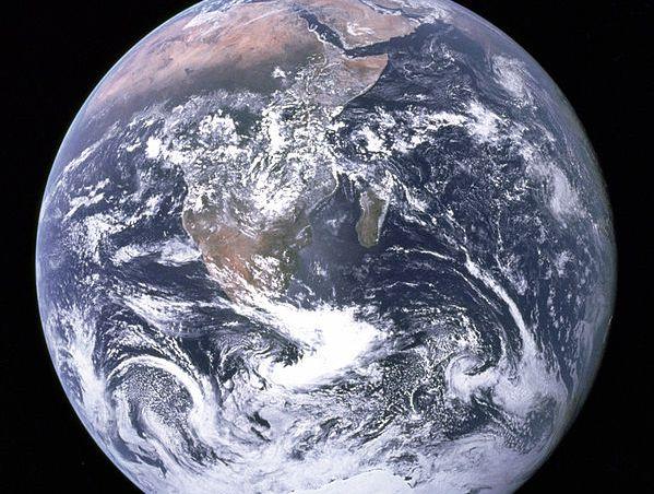 The Earth as seen by Apollo 17