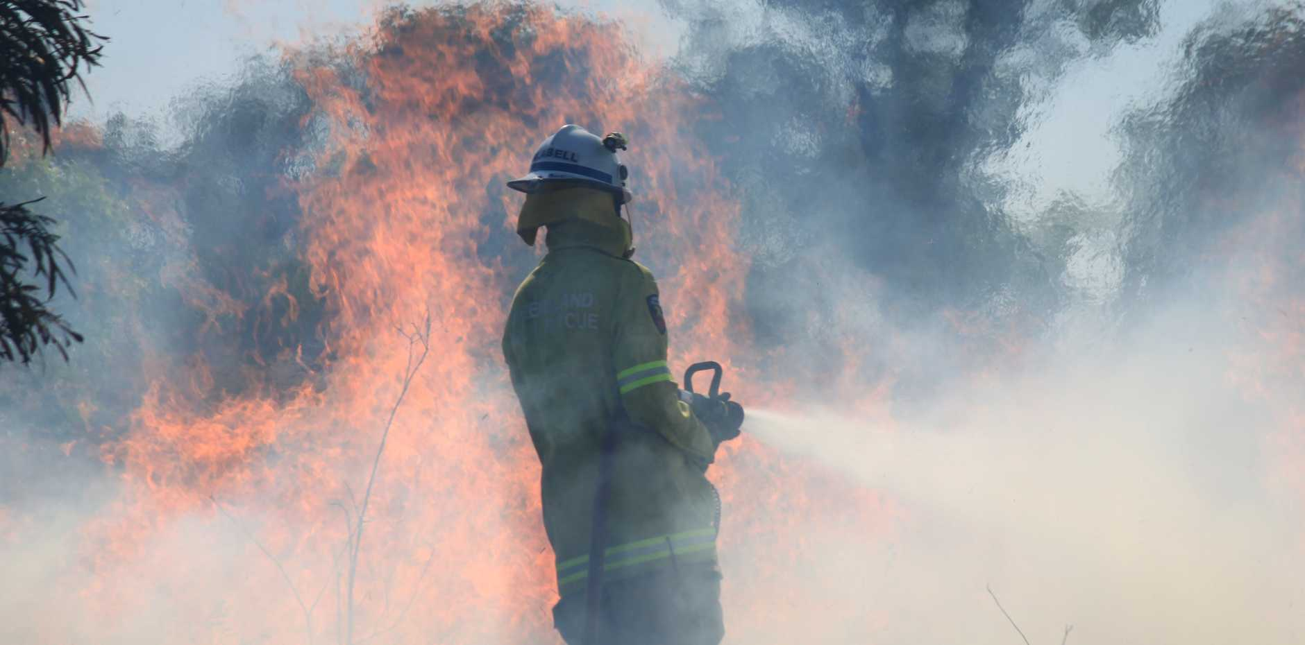 TAKE CARE: A high fire danger warning has been issued for the Central Highlands.