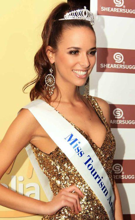 FLYING THE FLAG: Monika Radulovic, Miss Tourism Australia 2012.