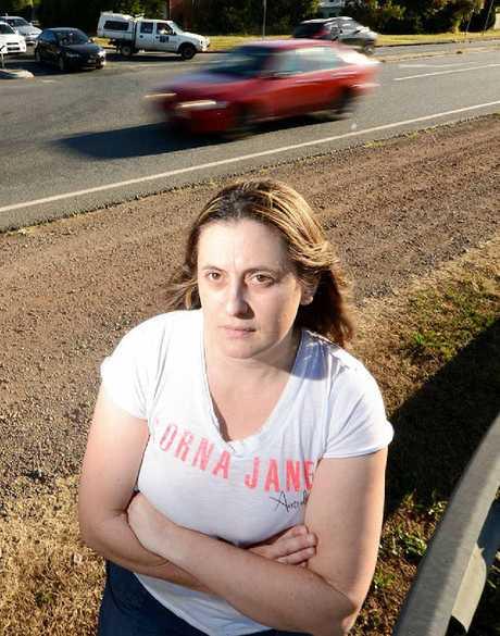FED UP: Karen MacPherson wants lights at Redbank Plains and Cedar Rd.