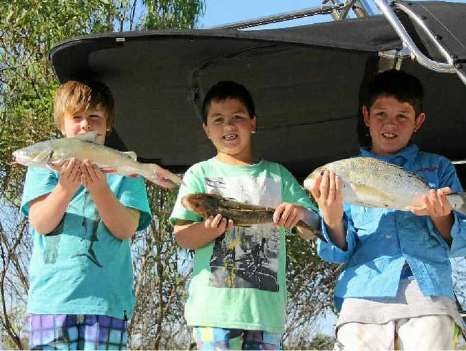 The kids have got amongst the fish in previous Baffle Creek Family Fishing Festivals.