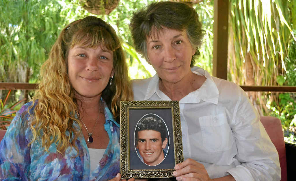 SAD BUT PROUD: Partner Sharyn Klease and mother Sharyn Taylor with a treasured photo of Luke Hamilton who passed 12 months to the day of RU OK? Day on Thursday, September 12.