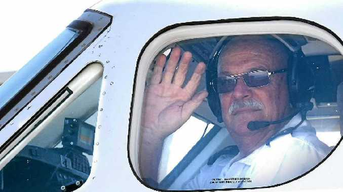 Pilot Graham Vonhoff waves goodbye to a rewarding career with the Royal Flying Doctor Service.