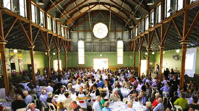 MEAL IS SERVED: The Gate to Plate luncheon at the Barn at the Grafton Showground.