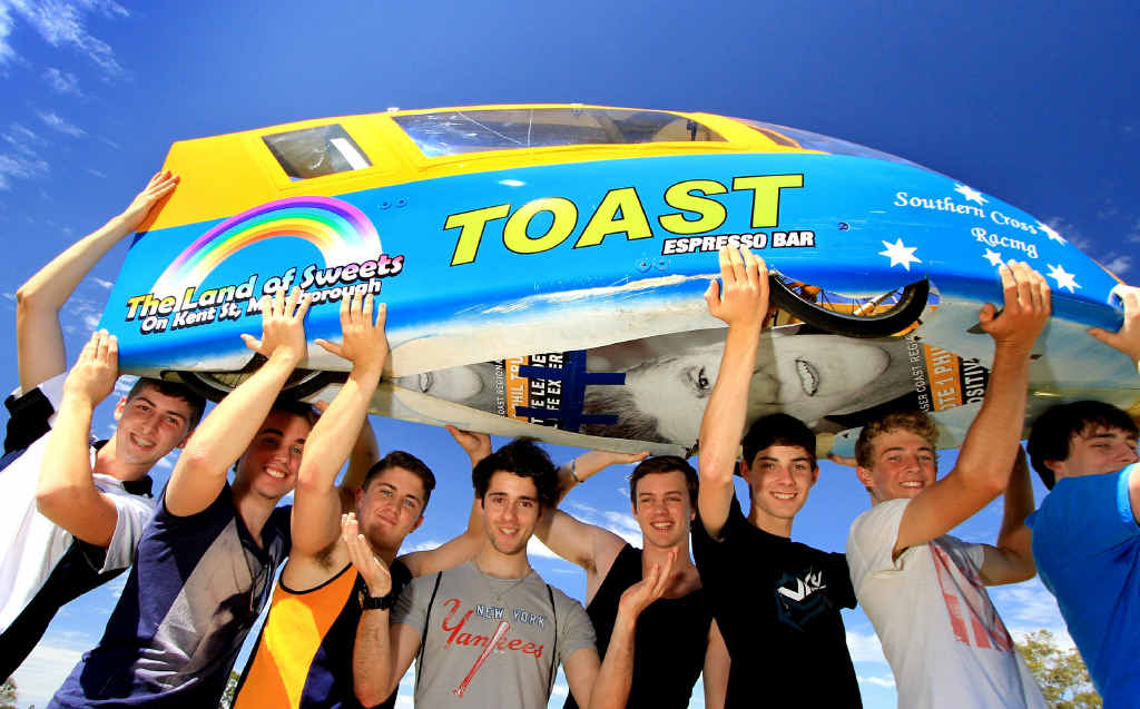 KEEN RACERS: St Mary's College senior boys team, Southern Cross Racing are gearing up for this year's event.