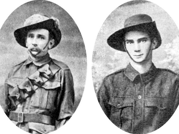 LEFT: Trooper Alfred Adolphe Cook and RIGHT: Pte. Percy Cook.