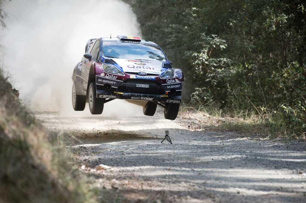 STRONG FINISH: Thierry Neuville finishes second to hold off Ogier's title claim