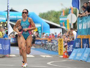 Moffatt collects Games ticket at London ITU World Triathlon