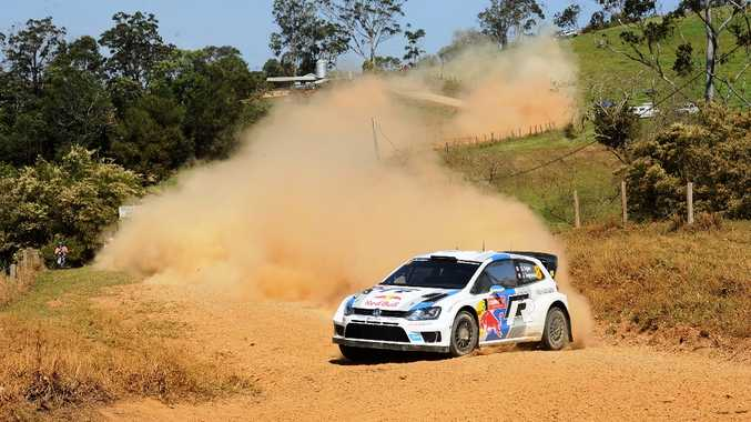 Volkswagen driver Sebastien Ogier clinched the World Rally Championship after coming oh so close on the Coffs Coast during the Coates Hire Rally Australia.
