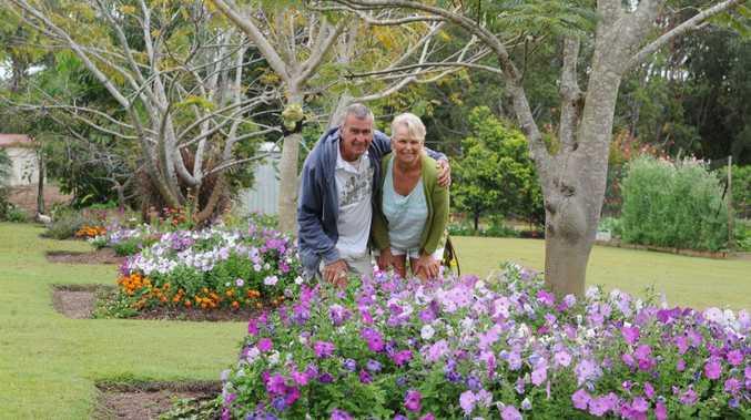 Darryl and Daphne Kelley in their award winning garden.