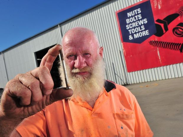 Peter Burke wanted to buy two stainless steel bolts for $5 but was told he needed to spend $10 minimum.