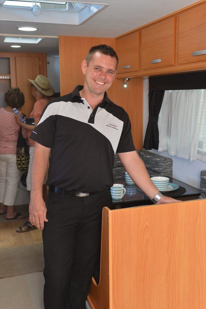 Josh Mullock of Coromal Caravans at the Mackay Home Show and Caravan, Camping Expo last year.