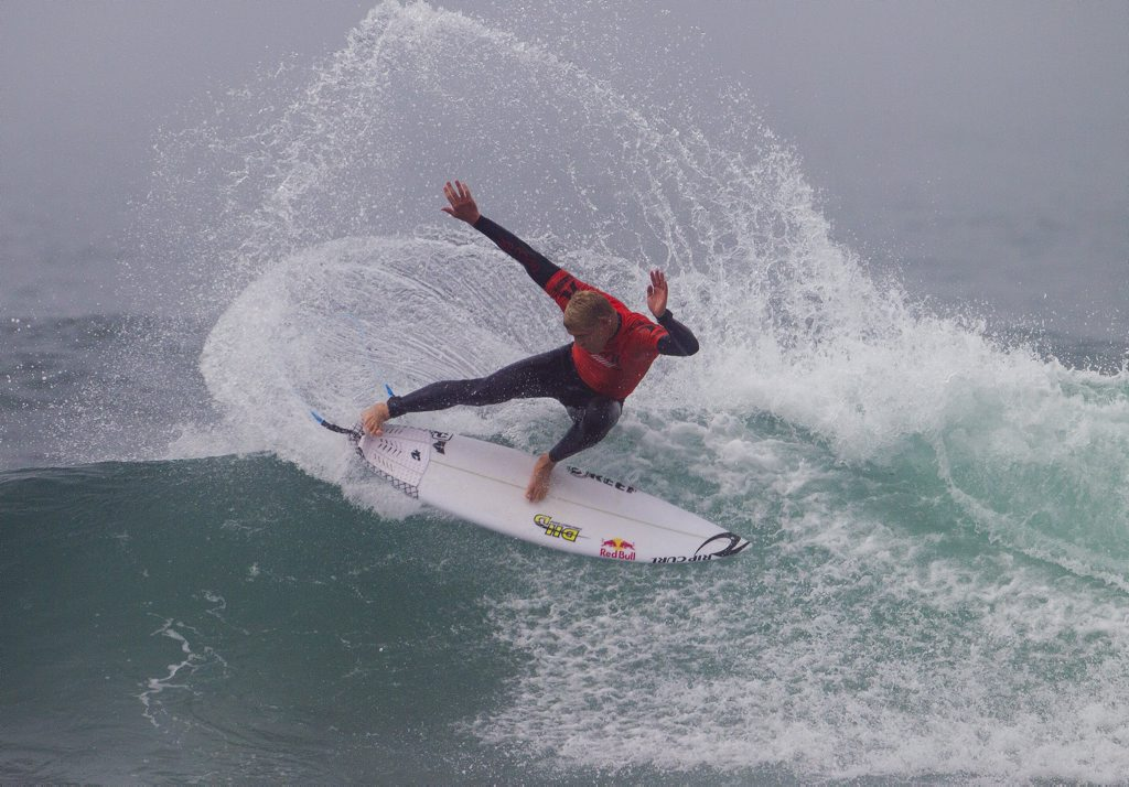 Mick Fanning in action on day one of the Hurley Trestles Pro in California.