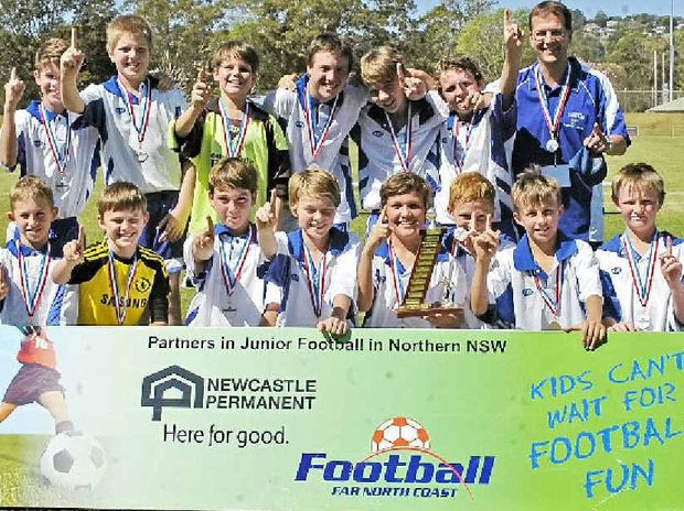 HAPPY VICTORS: A winning performance by Lismore Thistles under-12s to capture the 2013 Football FNC age group title.