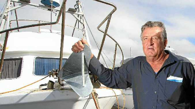 LURE OF DANGER: Fisherman David Swindells has what is rated Australia's most dangerous job, but he thinks truckies have it much tougher.