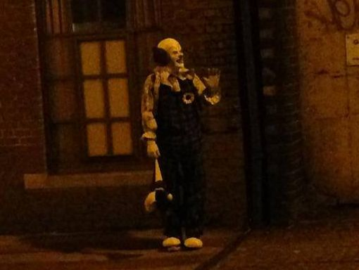 Northampton's creepy clown