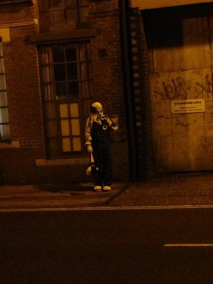 Northampton's creepy clown