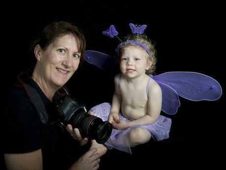 Judi Brameld photographs her daughter, Sharnie-Lee Brameld.