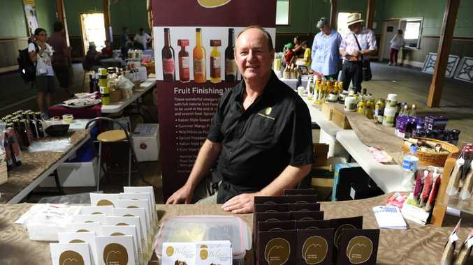 Peter Nicholson of Nicholson Fine Foods at his stand at the Gate to Plate Festivale at Grafton Showground Photo Adam Hourigan / The Daily Examiner