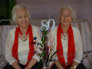 Twins of 80 years celebrate a lifetime of laughter together