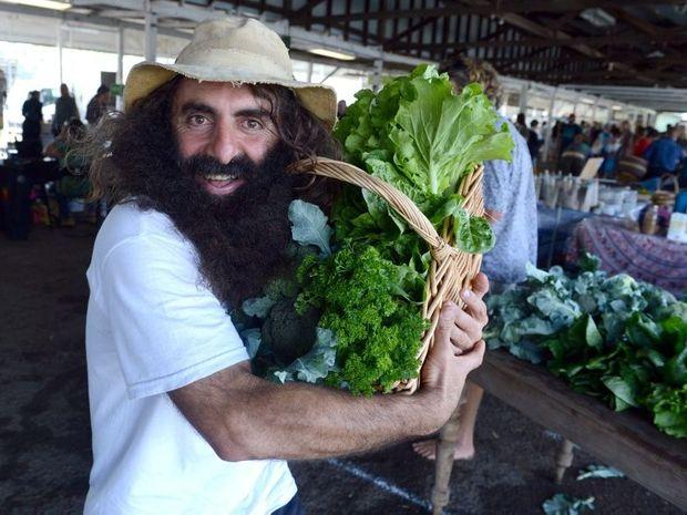 Costa Georgiadis at the Rainbow Region Organic Market at the Lismore Showround.
