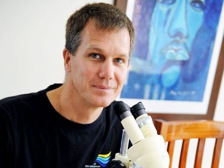 Marine biologist and remote University of Queensland student Ian Butler is studying Hervey Bay's coral as he completes his doctorate.