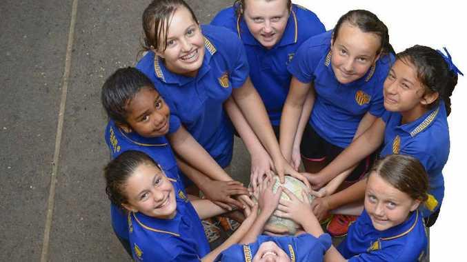 TOP TEAM: Grafton Public School winning Daily Examiner Primary netball side. Photo: Adam Hourigan