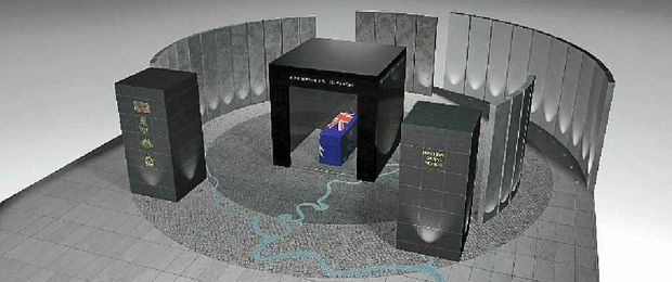 An artist's impression of the proposed Mullumbimby Cenotaph.