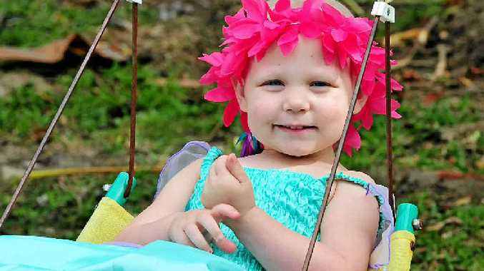 LITTLE FIGHTER: Haylea Rose Jarvis, 3, of Eumundi, has been given the all-clear after surgery and chemotherapy for cancer.