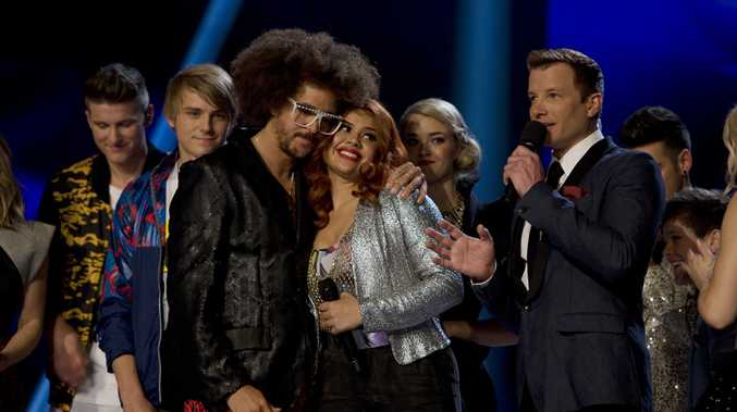Ellie Lovegrove with coach Redfoo.