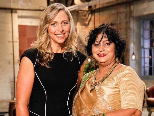 Manju Jehu with Woolworths' GM of Customer Loyalty Lizzy Ryley.