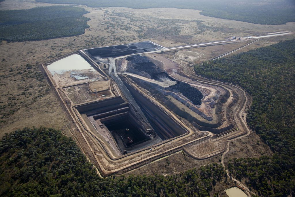 Aerial of Alpha Coal Project Test (12073). Image by Patrick Hamilton. Photo: contributed