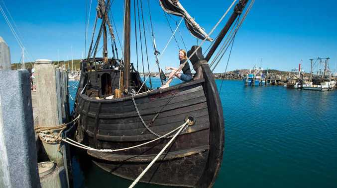 YAMBA BOUND: The Nortorious, a recreation of a 15th century caravel. Photo: Trevor Veale